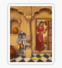 Krisha makhan chor Sticker