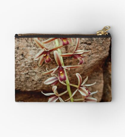 IN CONTRAST - THE ROCK AND THE DELICATE ORCHID Studio Pouch
