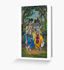 Krishna and Balaram Greeting Card