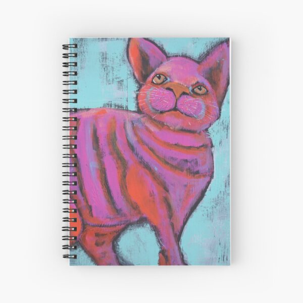 Fat Cat Spiral Notebook