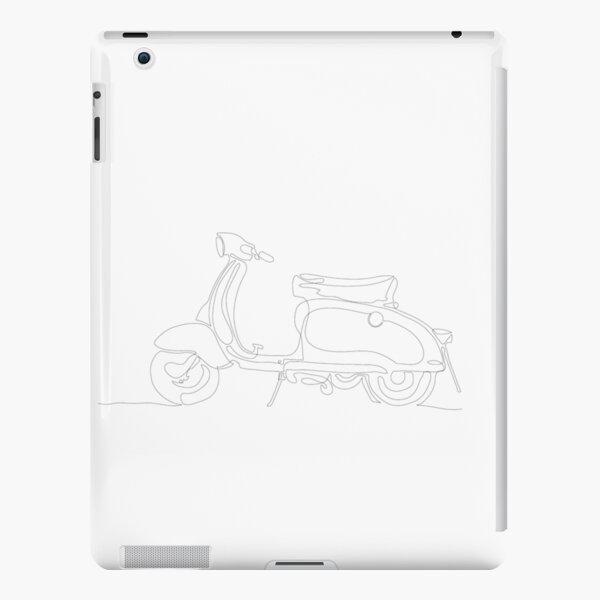 Lambretta Series 2 Winter Model (White Graphic)  iPad Snap Case