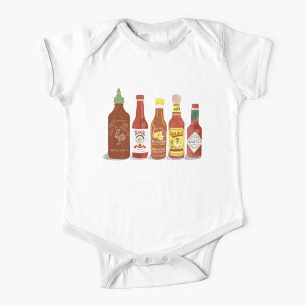 Hot hot hot sauce Short Sleeve Baby One-Piece