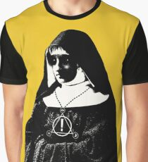 THE NUN IS PANIC AT THE TOUR OF DISCO Graphic T-Shirt