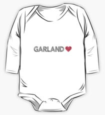 I love Garland sketchy vintage art Long Sleeve Baby One-Piece