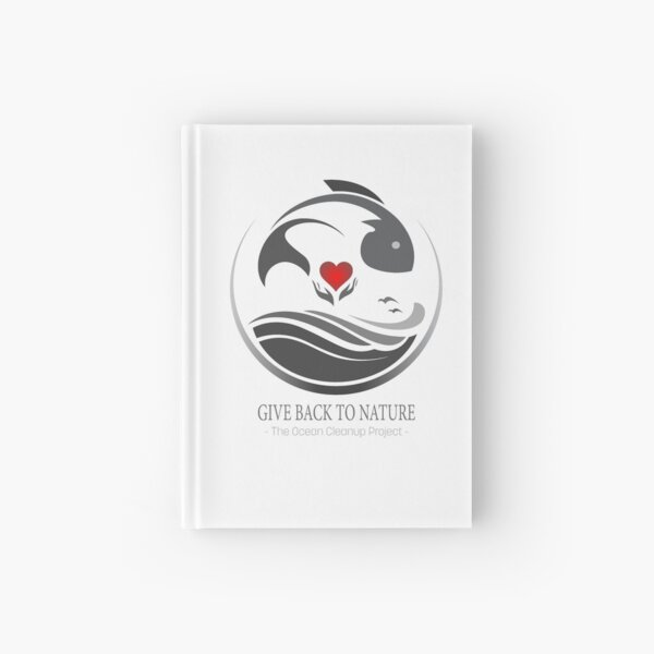 Give Back to Nature - The Ocean Cleanup Project Hardcover Journal