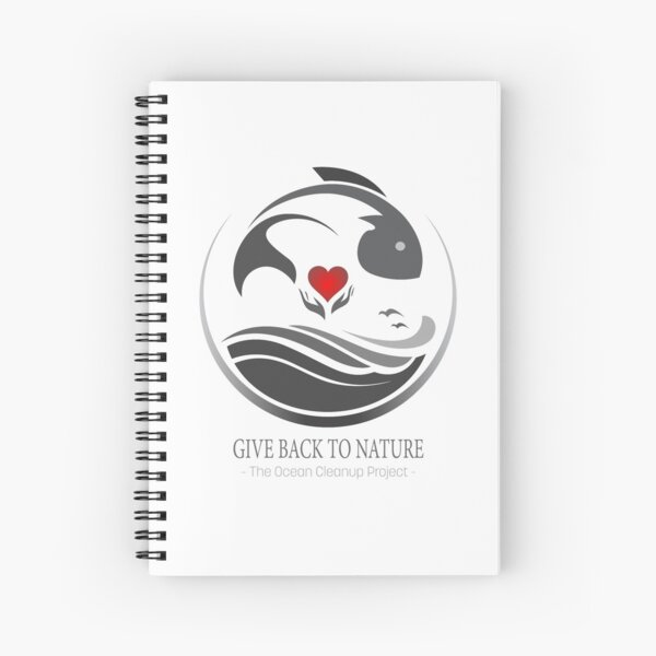 Give Back to Nature - The Ocean Cleanup Project Spiral Notebook