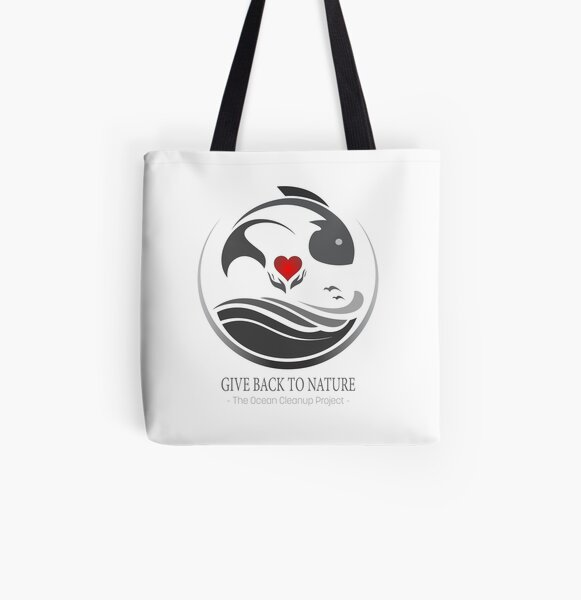 Give Back to Nature - The Ocean Cleanup Project All Over Print Tote Bag