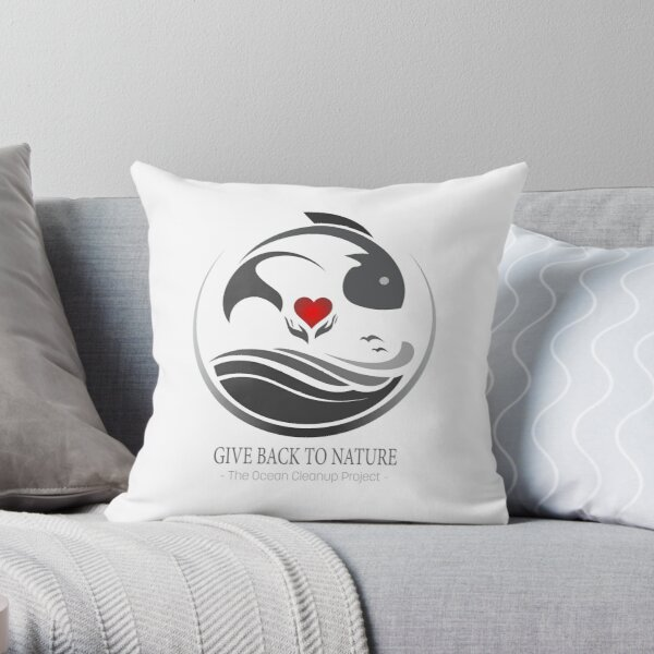Give Back to Nature - The Ocean Cleanup Project Throw Pillow