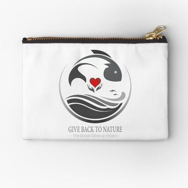 Give Back to Nature - The Ocean Cleanup Project Zipper Pouch