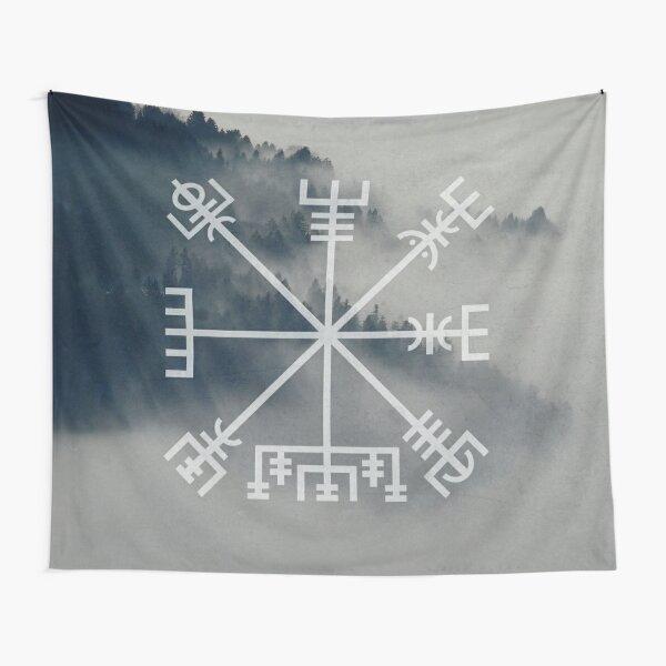 Vegvisir   Viking Compass, Icelandic Staves Tapestry