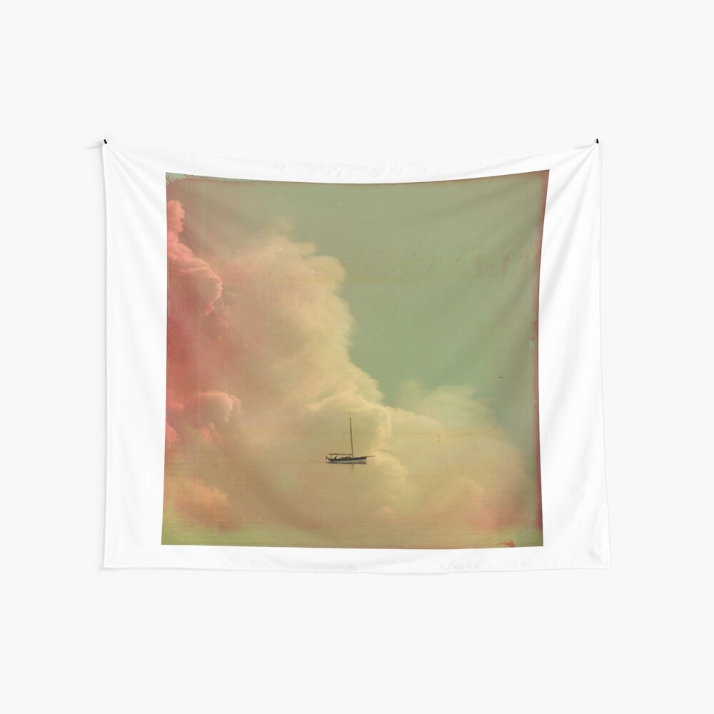 Once Upon a Time a Little Boat Wall Tapestry