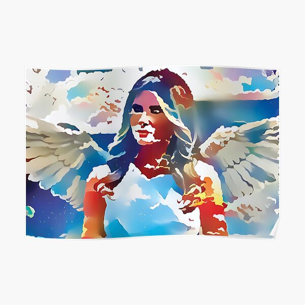 Angelic Melania - Heavenly Cutout Edition Poster