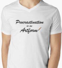 Procrastination is an artform Men's V-Neck T-Shirt