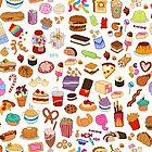 Cute Pixel Junk Food by siins
