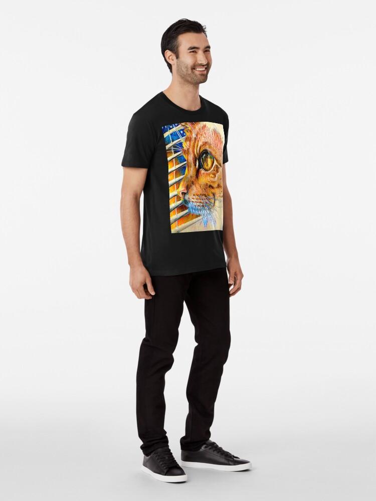 Alternative Ansicht von Winter-Sonnenuntergang Premium T-Shirt