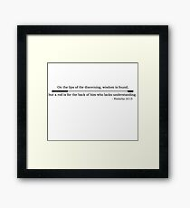 Proverb Framed Print