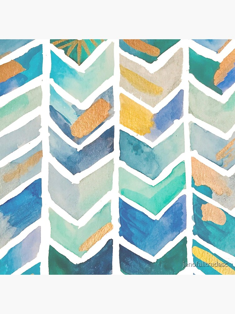 Freehand Watercolor Chevron Pattern by jenofalltradesc