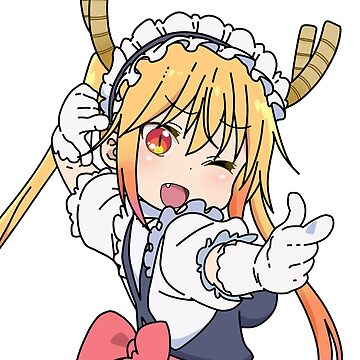 Maid Dragon- Tohru pointing pose flipped by neomeme