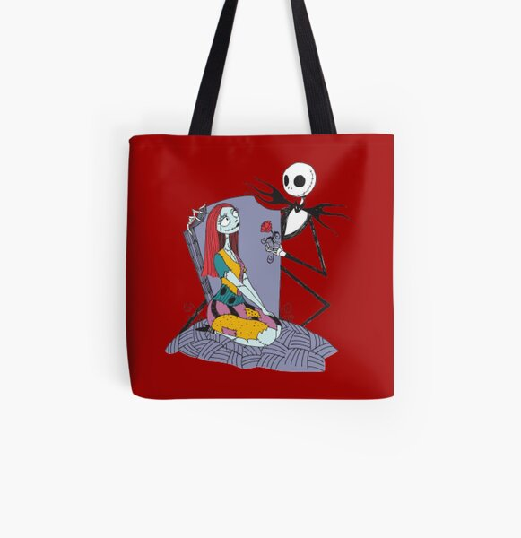 Jack and Sally All Over Print Tote Bag