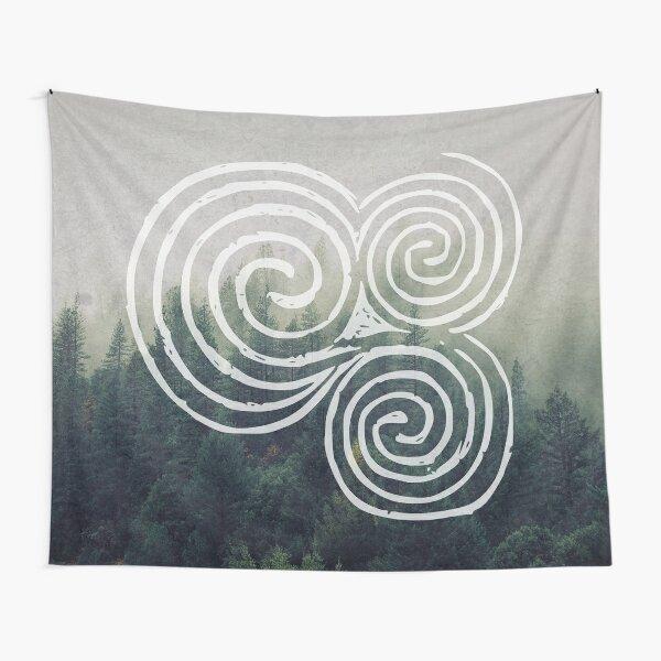 Triskelion   Newgrange celtic spiral  Tapestry