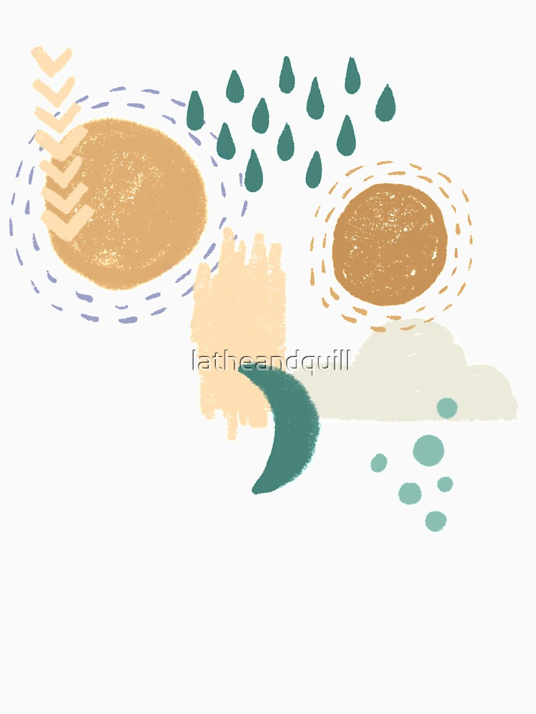 Abstract Weather - Teal by latheandquill