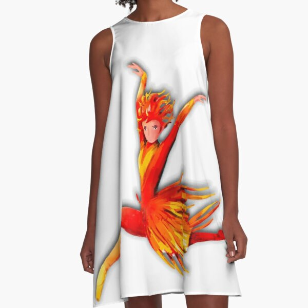 The Fire Bird Ballet A-Line Dress
