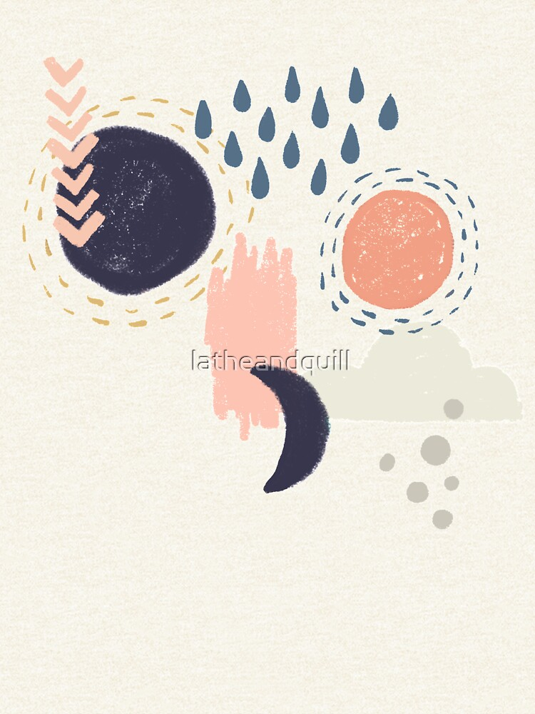 Abstract Weather - Gold by latheandquill