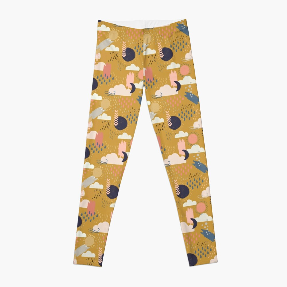 Abstract Weather - Gold Leggings