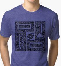 Eye, Square, Triangle (black design) Tri-blend T-Shirt
