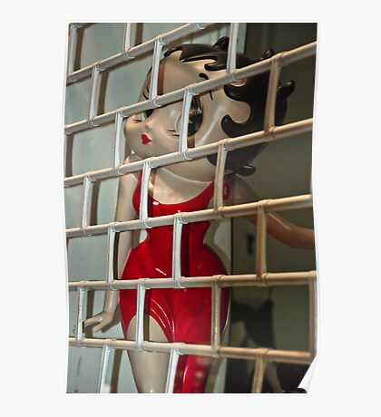 Betty Boop behind bars Poster