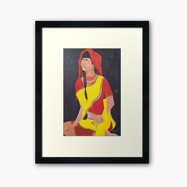 Midnight star Framed Art Print