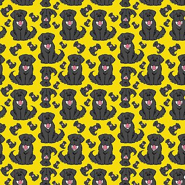 Cartoon Newfie Pattern by itsmechris
