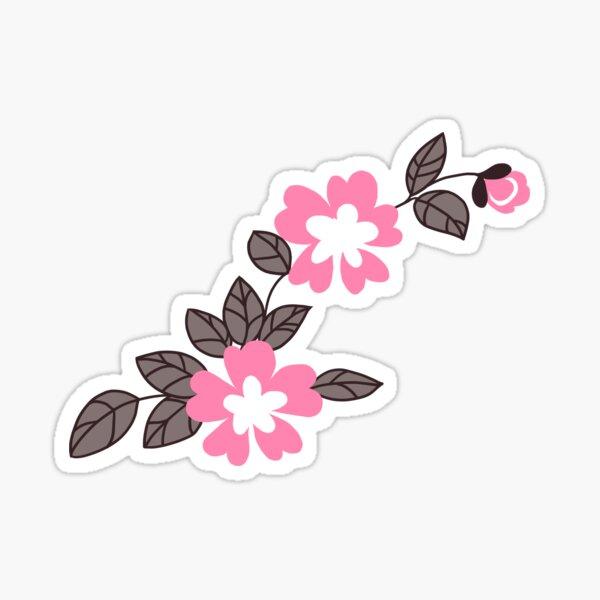 Flower Pattern - Pink Sticker