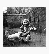 Ghislaine - War-time - Belgium Photographic Print