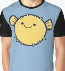 Happy Puffer Fish Graphic T-Shirt