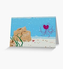 A Jellyfish Valentine's Day Romance Under the Sea  Greeting Card