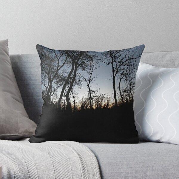 #Sky #Tree #NaturalLandscape #Nature #Branch Natural environment Cloud Wilderness Evening Morning Sunset Night Throw Pillow