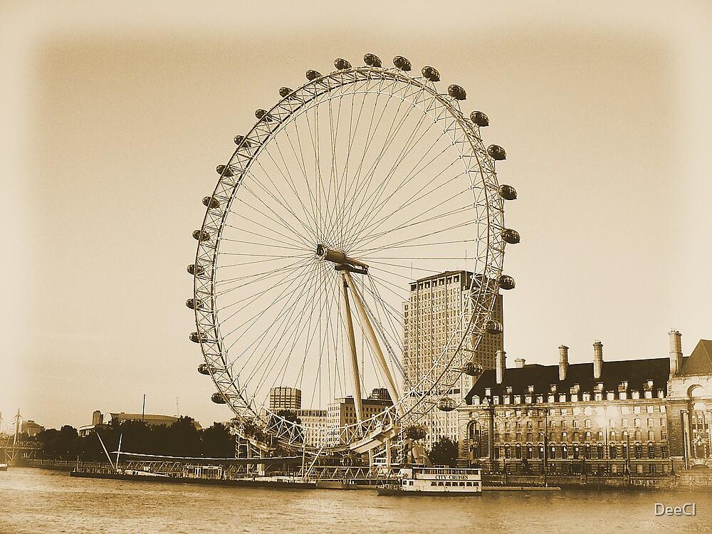 London Eye in all her Glory  by DeeCl