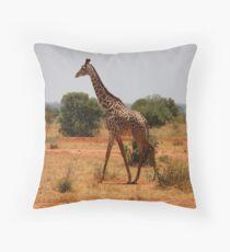 Giraffe Of Kenya Throw Pillow
