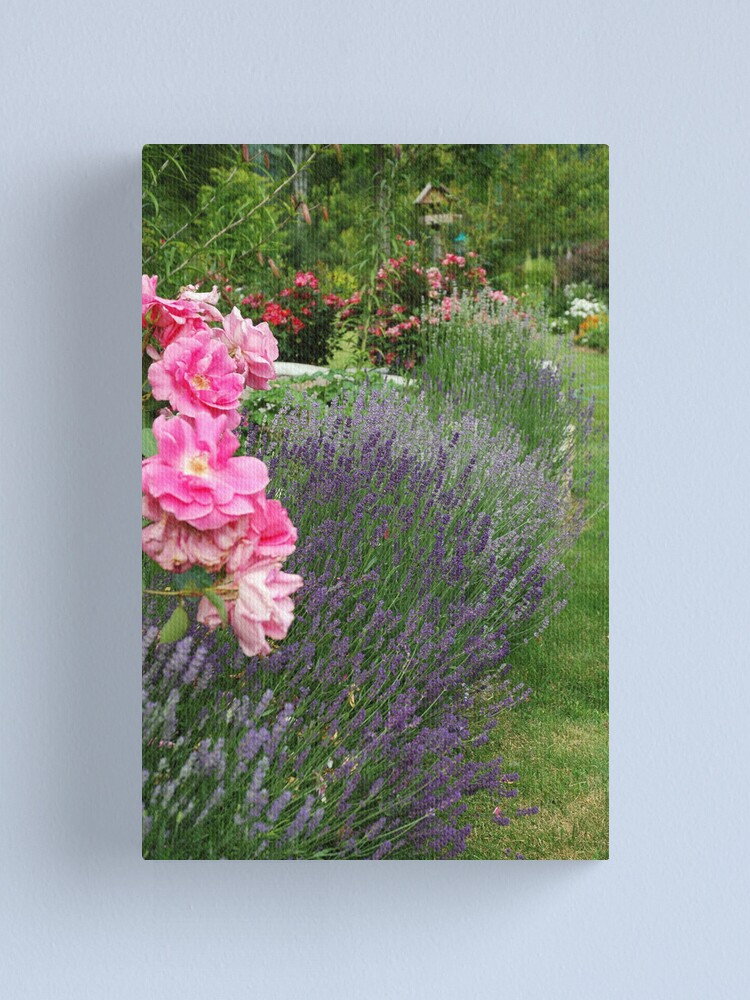 Alternate view of Lavender & Roses Canvas Print