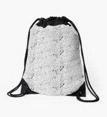 Rainforest black and white Drawstring Bag