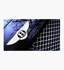 Bentley Continental GT - Bonnet Badge & Radiator grille Photographic Print