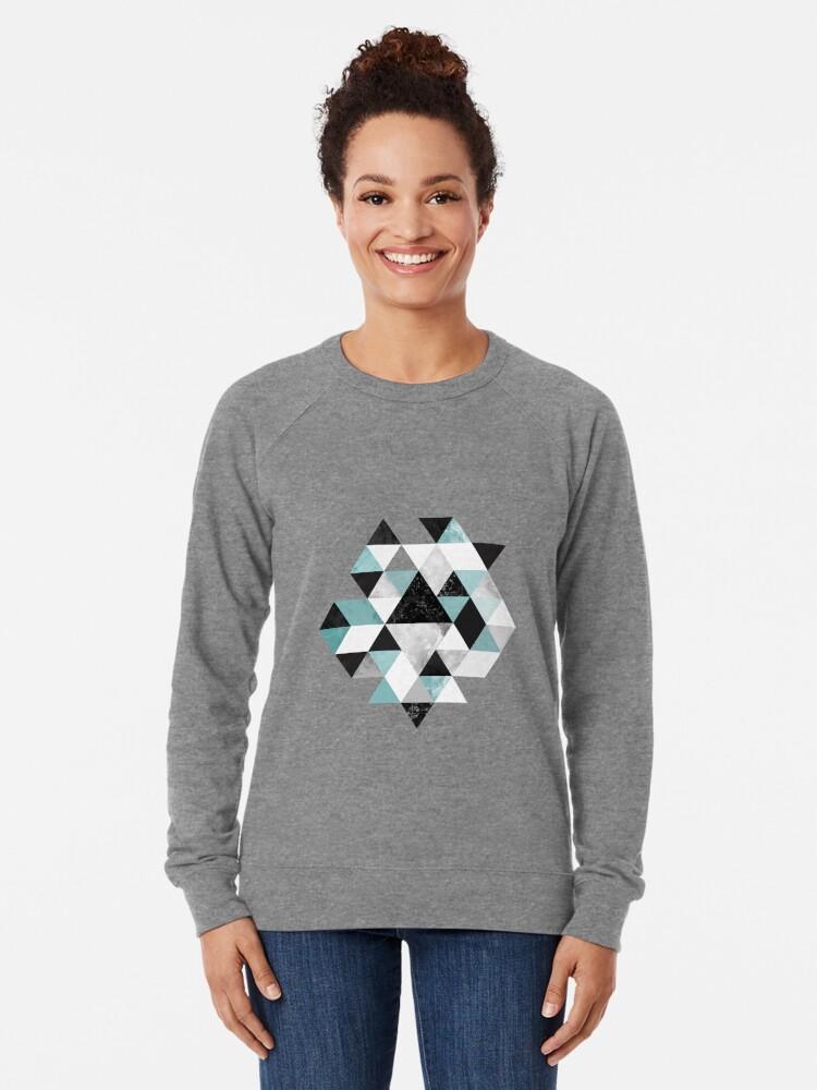 Alternate view of Graphic 202 Turquoise Lightweight Sweatshirt