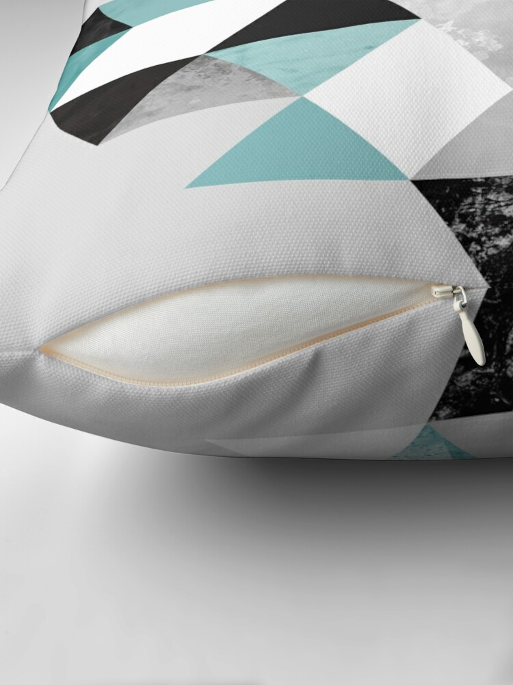 Alternate view of Graphic 202 Turquoise Throw Pillow