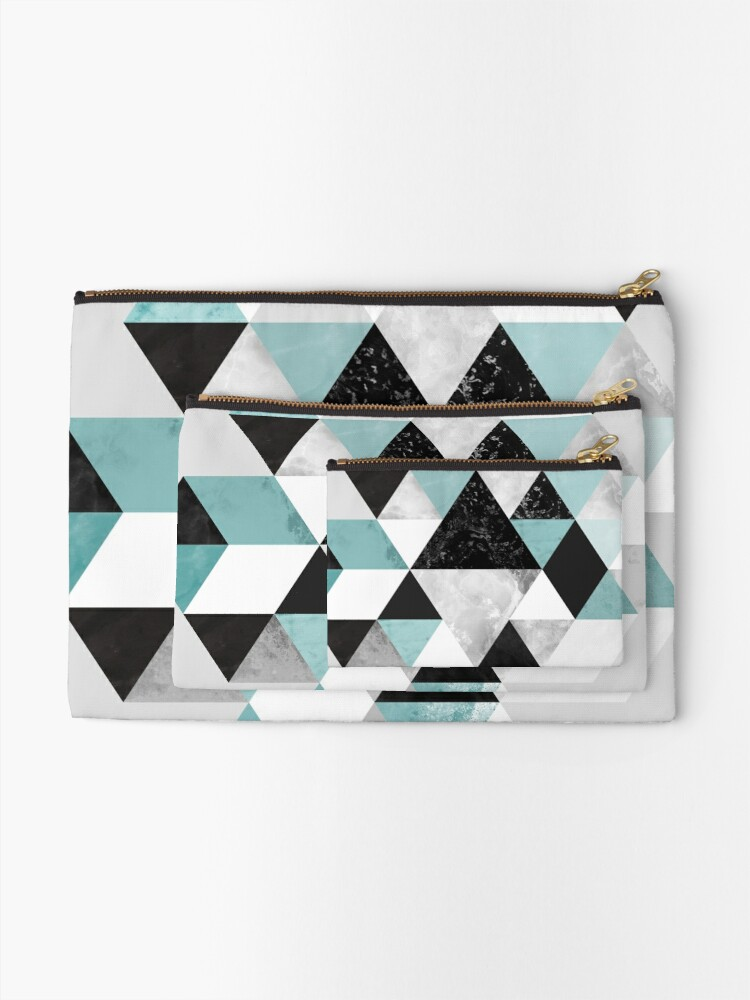 Alternate view of Graphic 202 Turquoise Zipper Pouch
