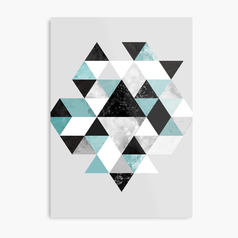 Graphic 202 Turquoise Metal Print