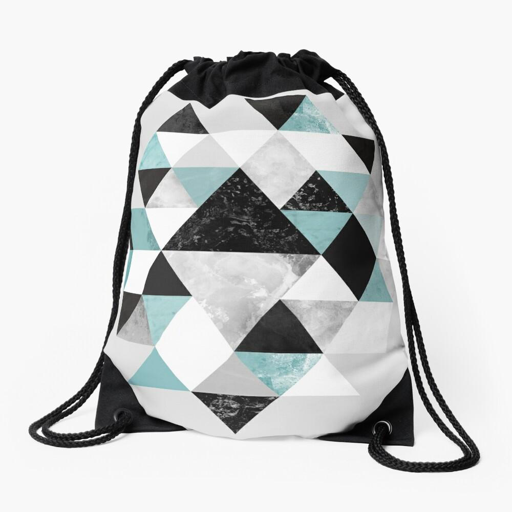 Graphic 202 Turquoise Drawstring Bag