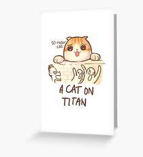 A Cat on Titan Greeting Card