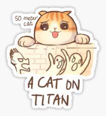 A Cat on Titan Sticker