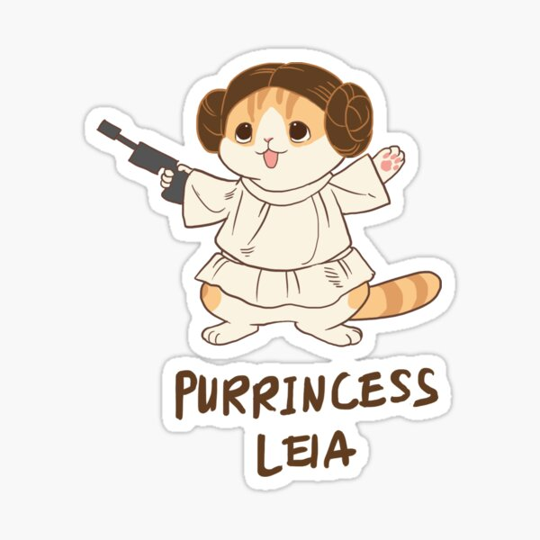 Waffles Leia Sticker